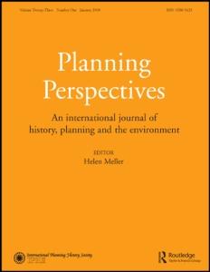 «L'Aventure des mots de la ville» dans le dernier numéro de Planning Perspectives, 27-1, 2012